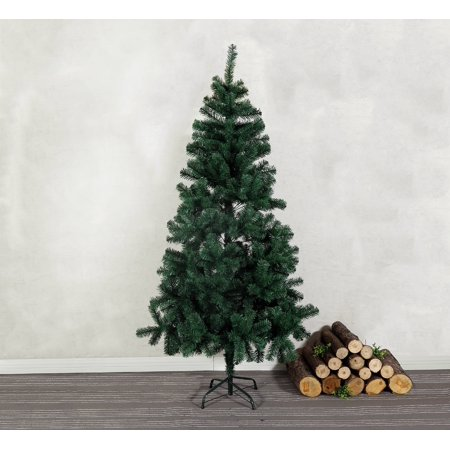 - Baner Garden 7' Premium Artificial Pencil PVC Pine Christmas Tree with Metal Stand Holiday Season Indoor Outdoor, Green (CT210)