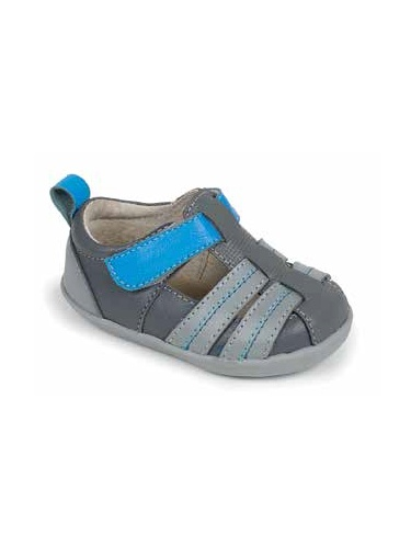 See Kai Run Caleb Sandal (Toddler) Gray