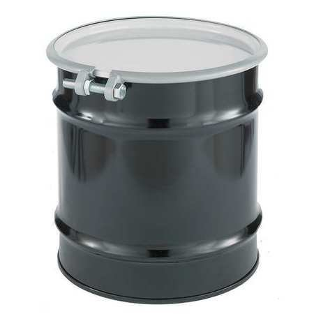 - Transport Drum, Open Head, 10 gal., Black