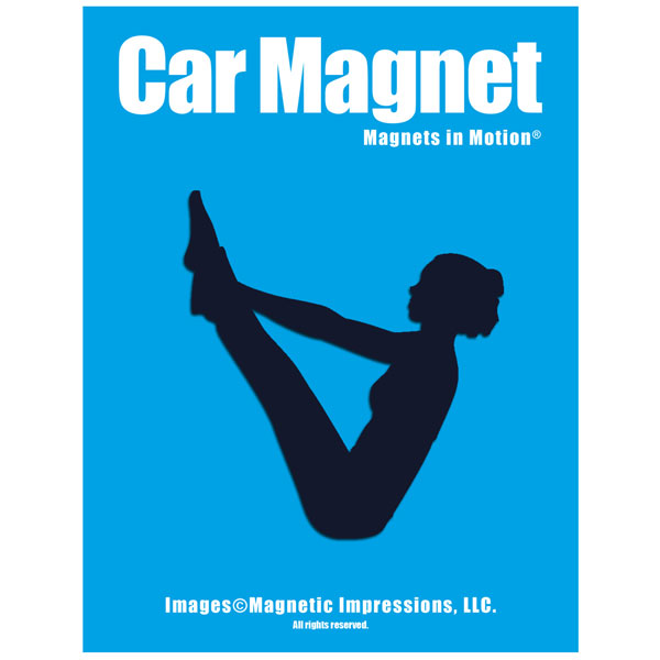 Yoga Female Car Magnet Navy