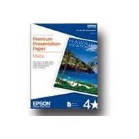 Epson Premium Matte Presentation Paper, 45 lbs., 8-1/2 x 11, 50 Sheets/Pack