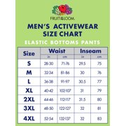 Fruit Of The Loom Men S Dual Defense Eversoft Elastic Bottom Sweatpants Image 2