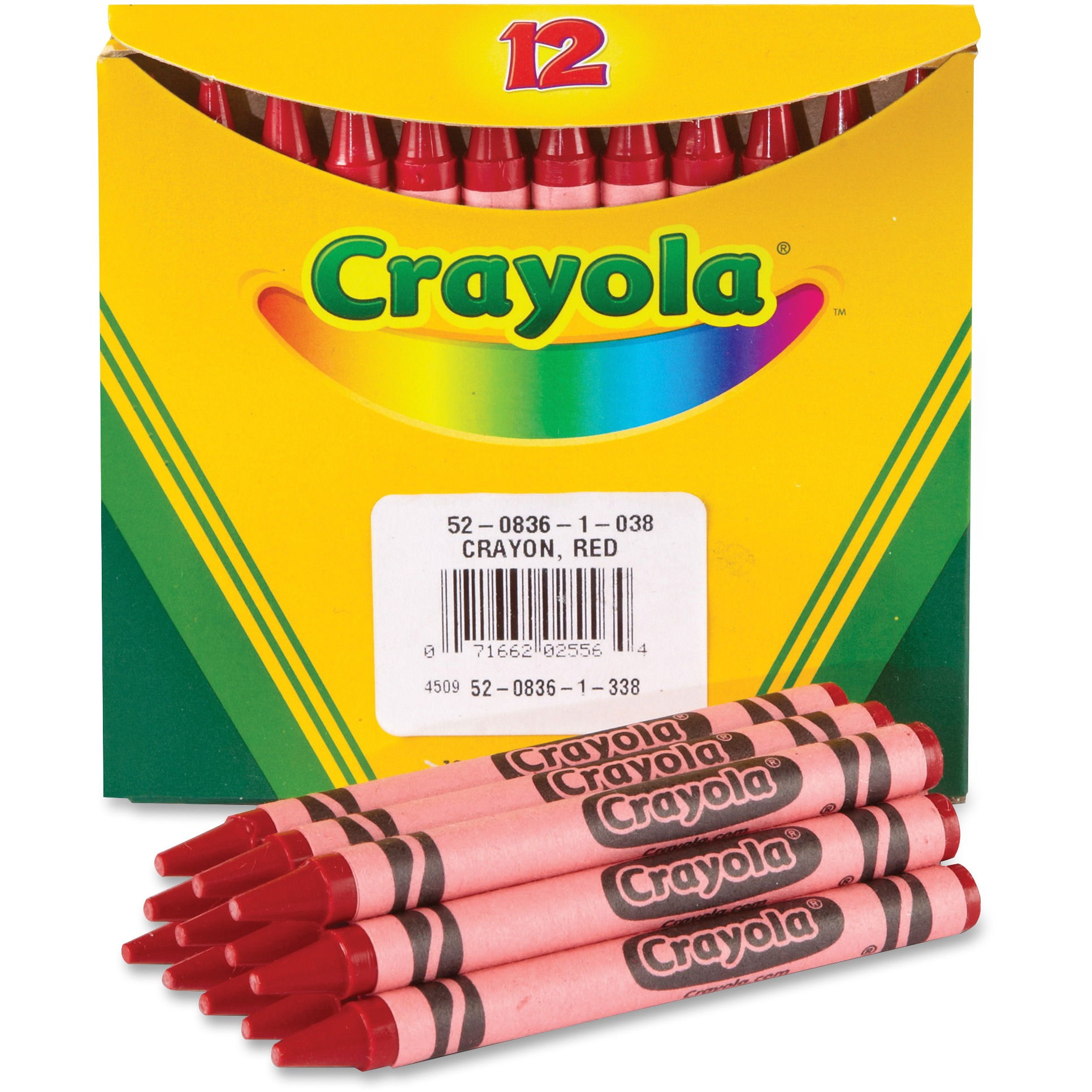 Crayola Bulk Crayons, Pack of 12, Red