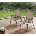 2 Pack Mainstays Pleasant Grove Sling Folding Chair