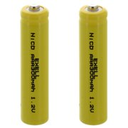 2x AAA 1.2V 300mAh Button Top Rechargeable Batteries For DIY Radios Power Packs