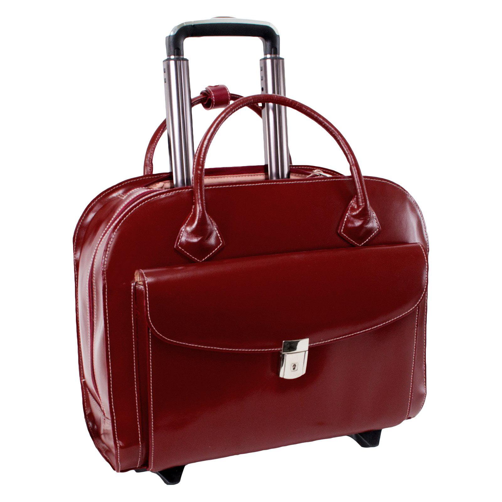 McKlein USA Granville Wheeled Ladies Laptop Case Red by McKleinUSA