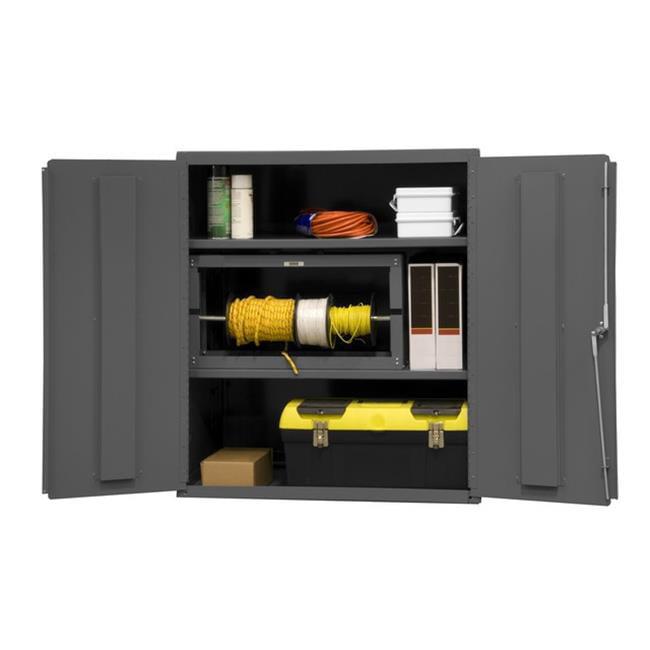 16 Gauge Welded Steel Industrial Duty Strength Storage Cabinet with 2 Adjustable Shelves - 36 x 24 x 42 in.