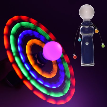 GlowCity Multiple LED Light Up Galaxy Spinners Hand Held Toys For Kids Adults](Led Light Up Toys)