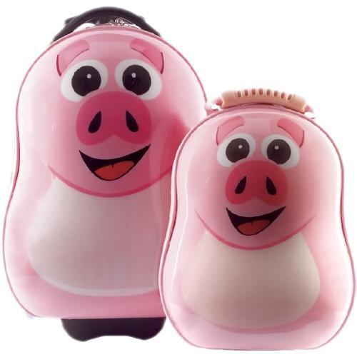 Cuties & Pals Children's Pookie Pig Hardside Luggage Set