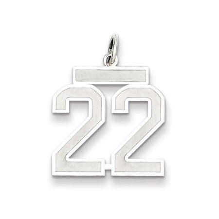 - Sterling Silver, Jersey Collection, Medium Number 22 Pendant