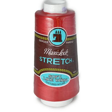 Poppies Thread - A&E Maxi Lock Stretch Textured Nylon Poppy Red Serger Thread  MWN-45136