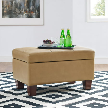 Wondrous Dorel Living Dakota Tufted Storage Ottoman Taupe Pabps2019 Chair Design Images Pabps2019Com