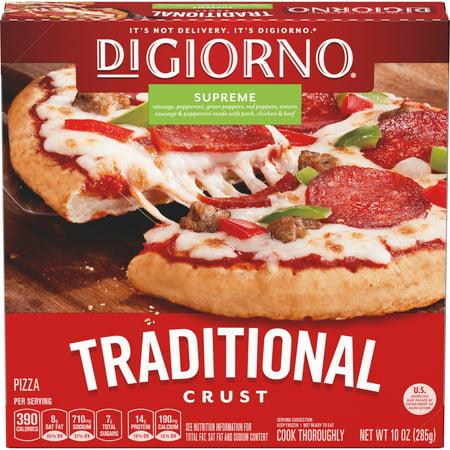 DIGIORNO Supreme Traditional Crust Frozen Pizza 10 Oz  Box