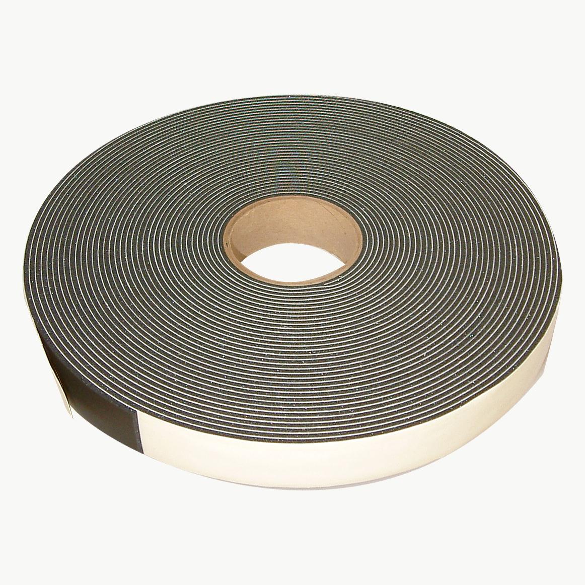 JVCC SCF-01 Single Coated PVC Foam Tape: 1/8 in. thick x 1-1/2 in. x 75 ft. (Black)