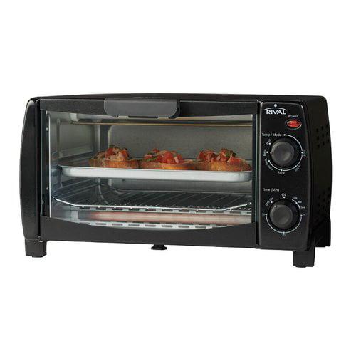 Rival 4-Slice Toaster Oven, Black