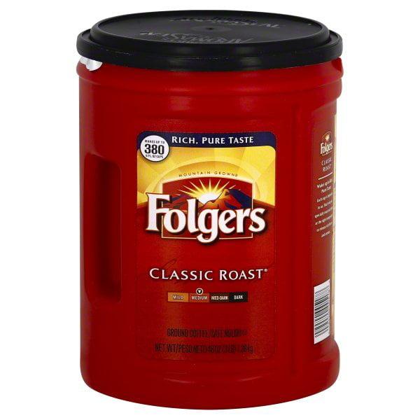 Folgers Classic Roast Ground Coffee, 48 Oz