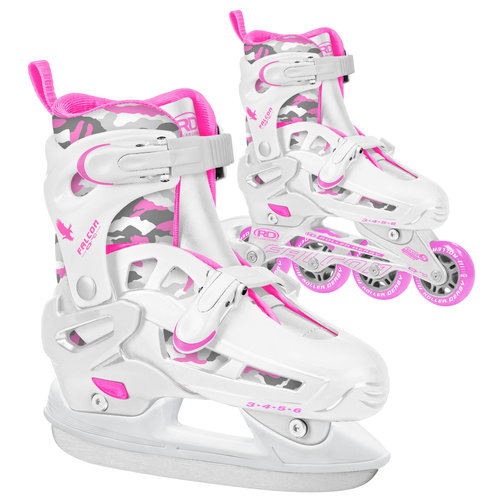 Falcon Girls' Q-70 Ice Inline Combo Skates, Medium by Roller Derby Skate Corp.