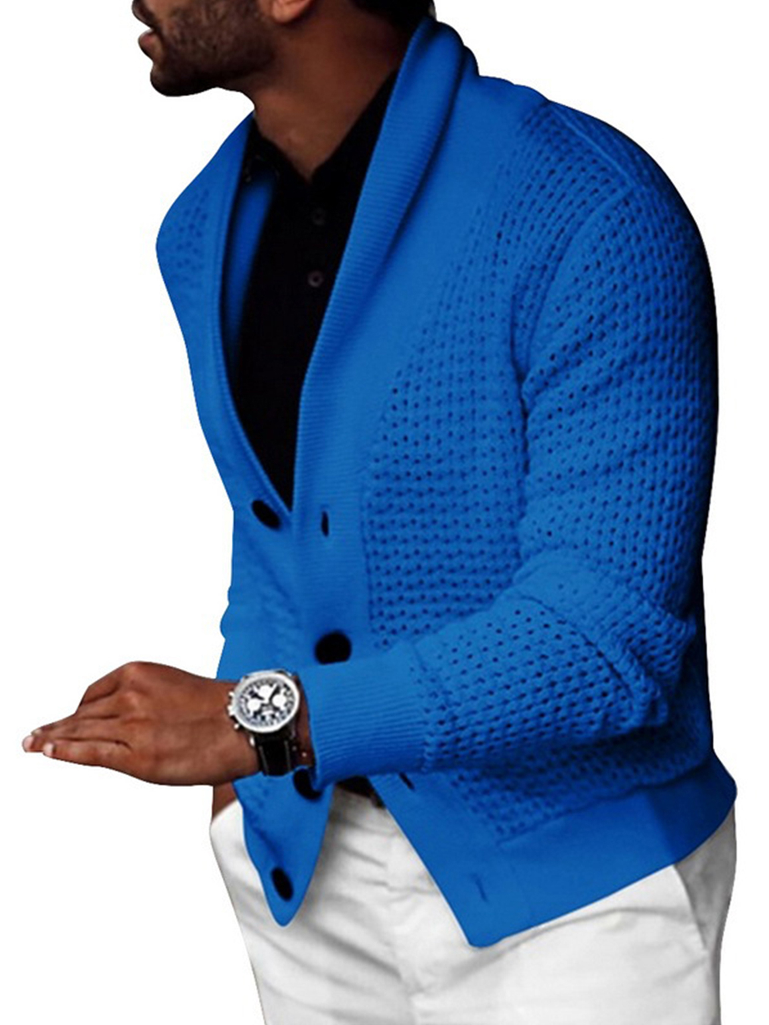 Men/'s Casual Button Down Sweaters Slim Fit Knitting Cardigan Coat V Neck Jackets