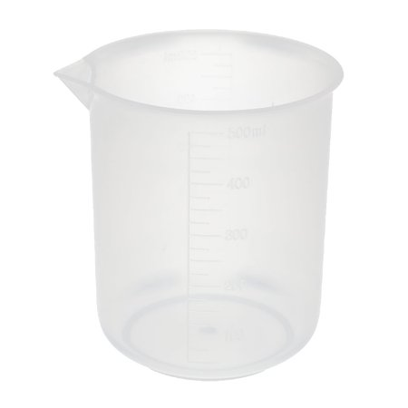 Kitchen Labotary 500mL Clear Plastic Measuring Cup Jug Pour Spout Container