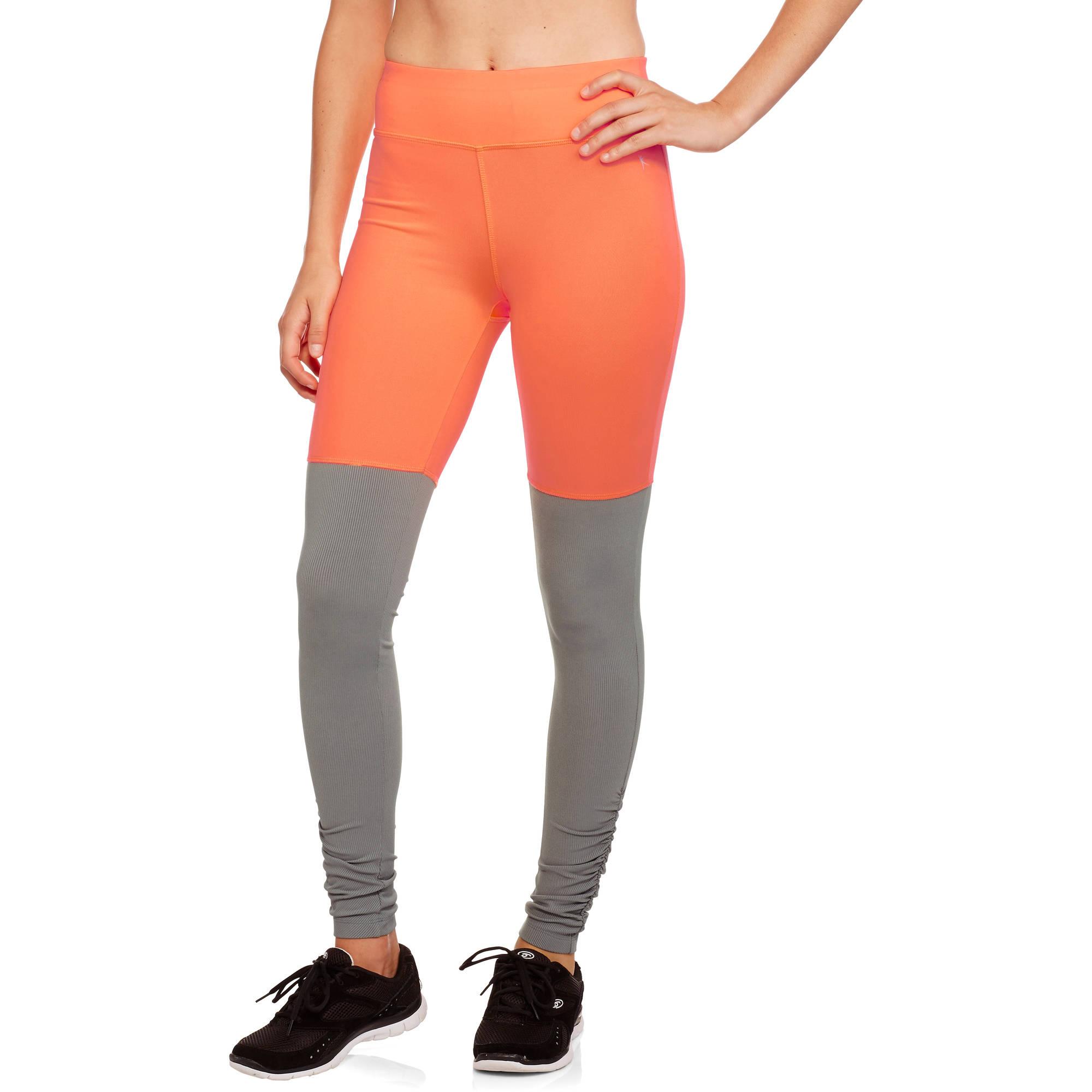 Danskin Now Women's Colorblock Full Length Legging With Shirring