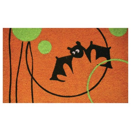 Robert Allen Home and Garden Circle Bat Doormat - Halloween Math Ideas For Preschoolers