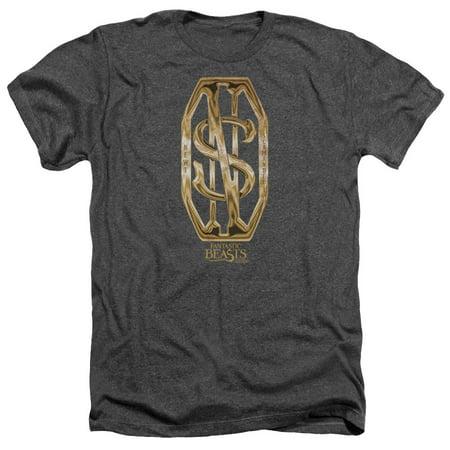 Monogram Short - Fantastic Beasts - Scamander Monogram - Heather Short Sleeve Shirt - Medium