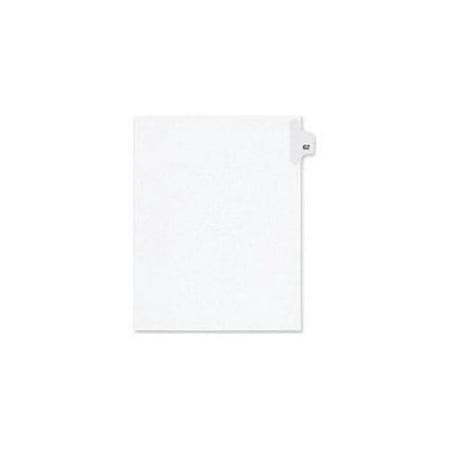 Kleer-Fax Numeric Laminated Tab Index Dividers - Printed Tab(s) - Digit - 62 - 25 Tab(s)/Set - 8.5
