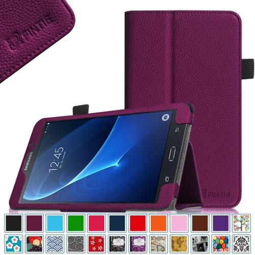 Fit Premium Leather Case - Samsung Galaxy Tab A 7.0 Case - Fintie Premium Vegan Leather Slim Fit Folio Cover for Galaxy Tab A 7 Tablet, Purple