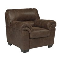 Signature Design by Ashley Bladen Faux Leather Chair in Coffee