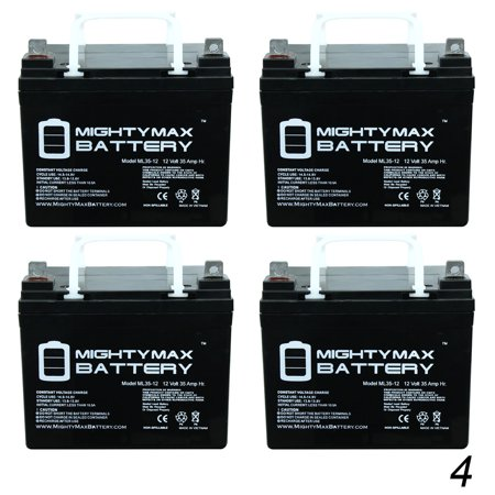 12V 35AH SLA Battery for PRIDE Boxter Celebrity Cyclone - 4 Pack