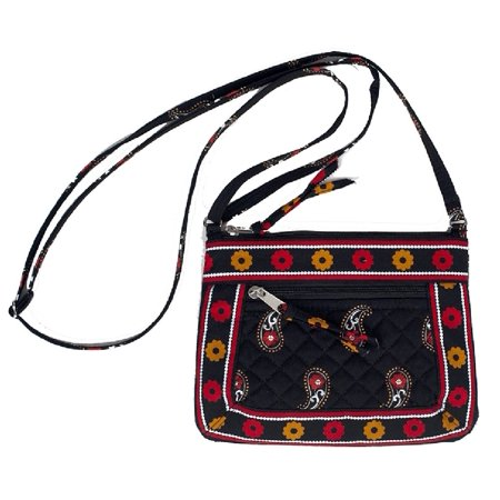 Stephanie Dawn Quilted Petite Shoulder Bag - Scarlet Paisley