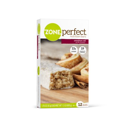 Zoneperfect Nutrition Snack Bars  High Protein Energy Bars  Cinnamon Roll  1 76 Oz  Pack Of 12