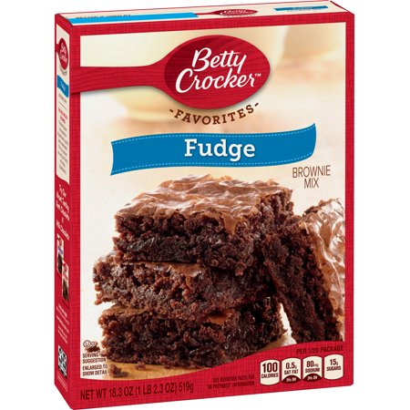 (2 pack) Betty Crocker Fudge Brownie Mix Family Size, 18.3 oz