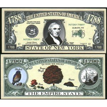 Set of 10 Bills-1788 New York State Bill, By Novelties - Wholesale Novelties