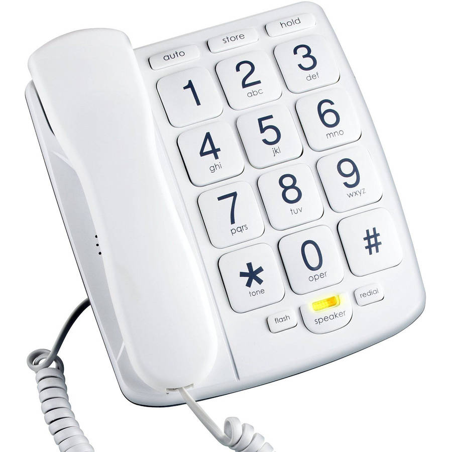 Emerson EM300WH Big Button Corded Phone