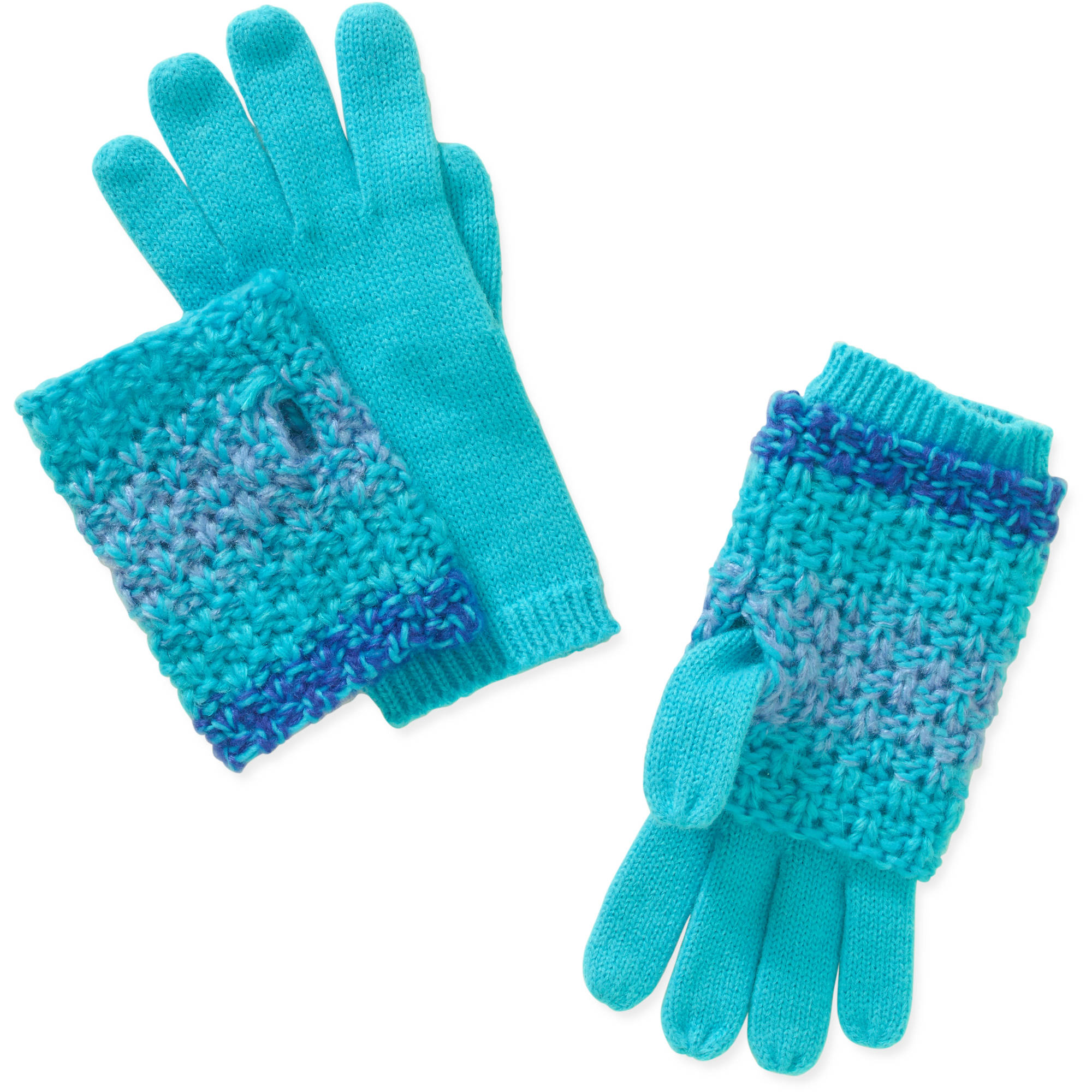 Faded Glory Women's Marled 3-in-1 Gloves