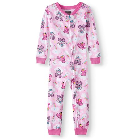 Sesame Street Toddler girls' cotton footless pajama sleeper - Sesame Street Halloween Safety