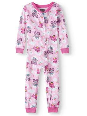925a27d64b76d Product Image Toddler Girls  Cotton Footless Pajama Sleeper. Sesame Street