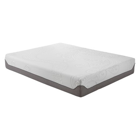 newest 08b9e 22ce8 Pure Posture Deluxe Cool 12 in. Memory Foam Mattress with Ice Fiber