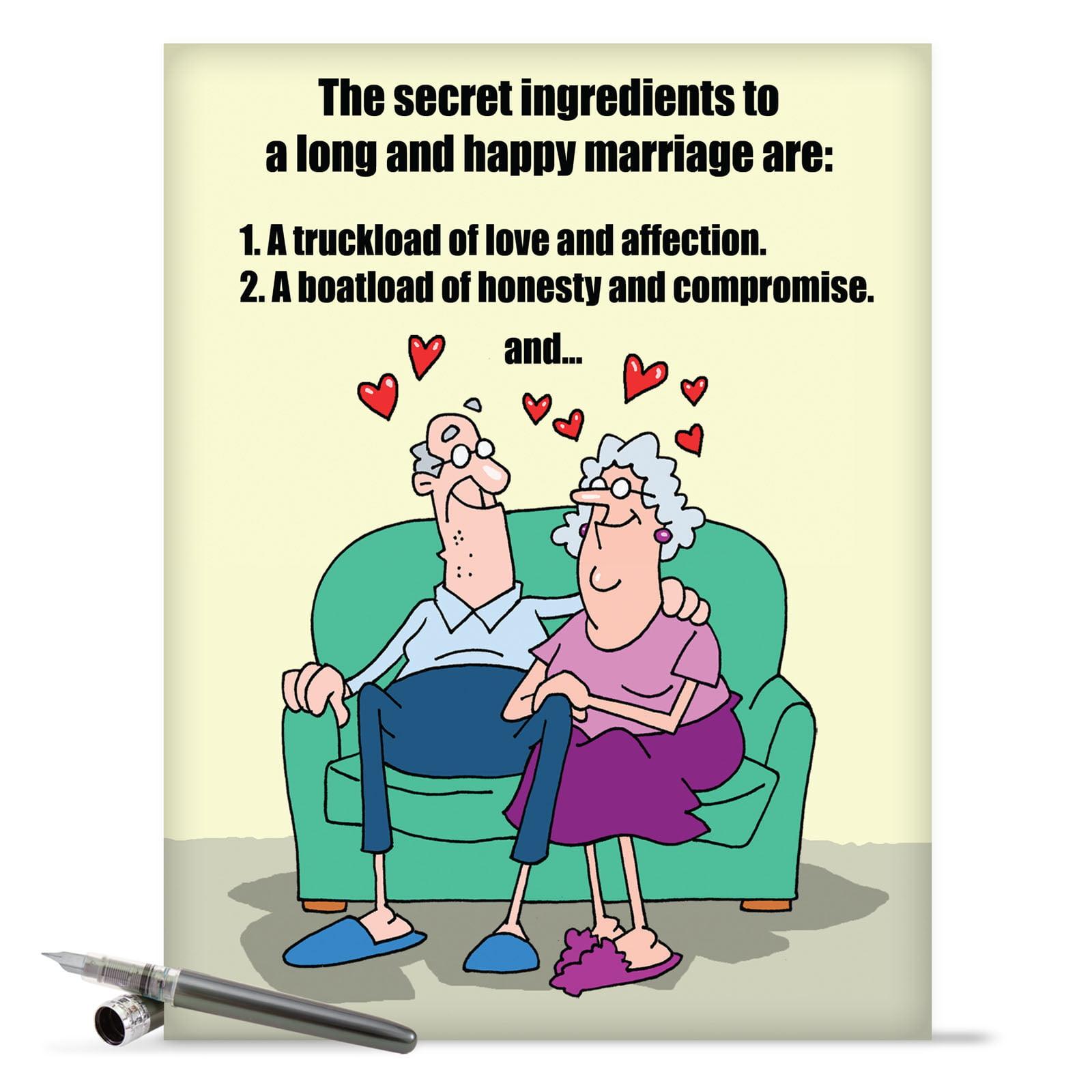 j9780 jumbo funny anniversary card 'marriage secrets