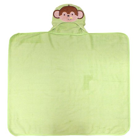 Happy Face Terry (Neat Solutions 3D Applique Woven Terry Bath Wrap, Happy Monkey)