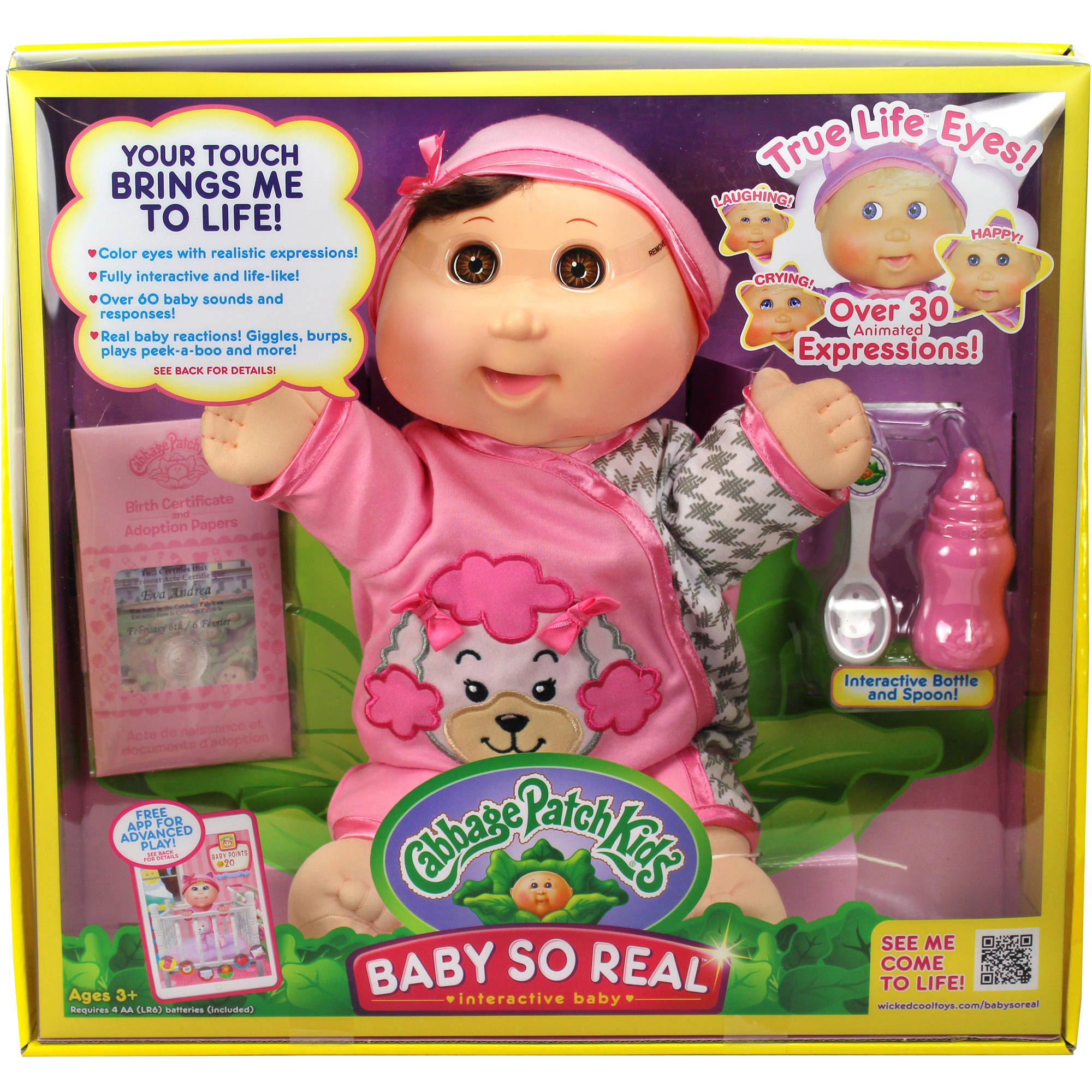 "Cabbage Patch Kids 14"" Baby So Real, Brunette"