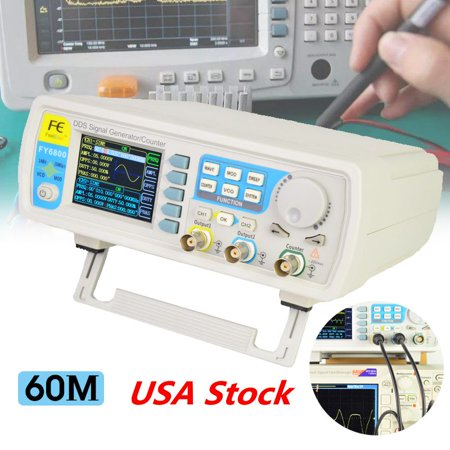 FY6600 60MHz Dual Channel DDS Function Arbitrary Waveform Signal Generator  Pulsse Meter