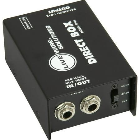 Di Passive Direct Box (Livewire SPDI Passive Direct Box with Attenuation Pad)