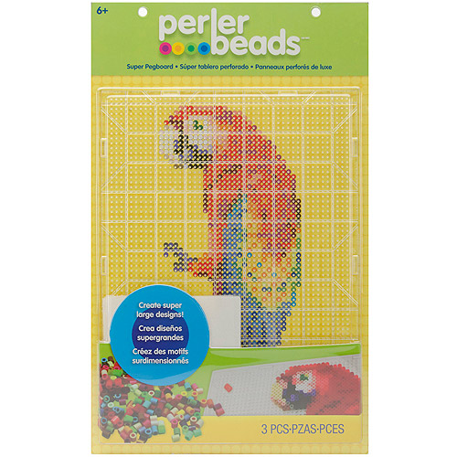 Perler Fun Fusion Bead Super Pegboard, Clear