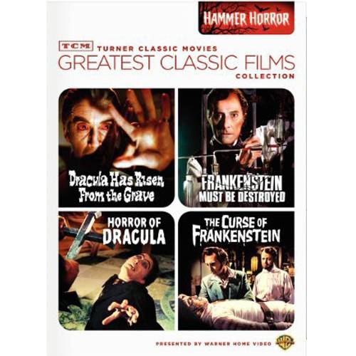 Turner Classic Movies: Greatest Classic Films Collection: Hammer Horror: Dracula Has Risen From The Grave / Frankenstein Must Be Destroyed / Horror Of Dracula / The Curse Of Frankenstein