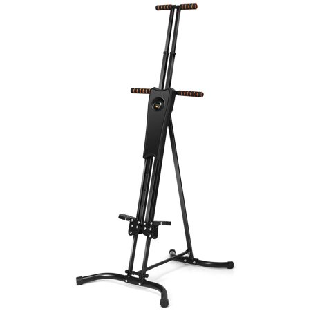 Gymax Adjustable Folding Vertical Climber Fitness Workout Machine Home Exercise