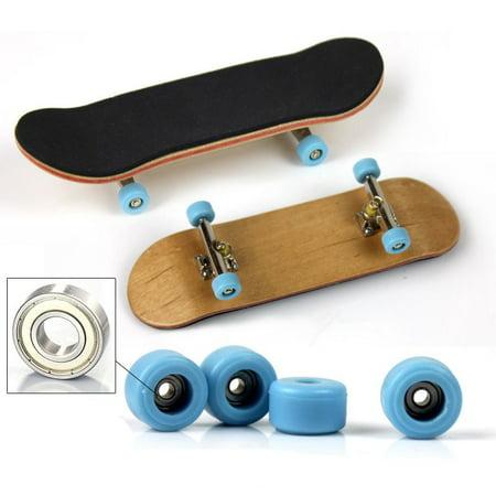 Professional Type Bearing Wheels Skid Pad Maple Wood Finger Skateboard Alloy Stent Bearing Wheel Fingerboard Novelty (Best Type Of Skateboard For Beginners)
