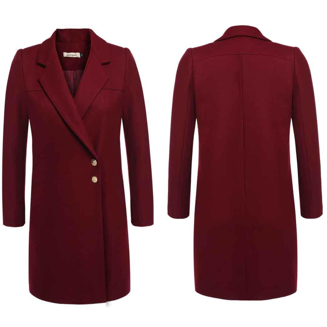 Lowest Price ever ! Women Trench Wool Blend Coat- Lapel Single Breasted Wool Blend Pea Coat Trench Warm Jacket for Winter
