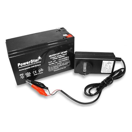 Powerstar agm1275 f120010w 03 12v 7 5ah sla charger for Battery powered fish finder